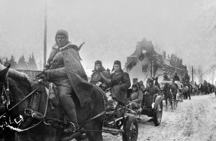 As the cavalry of the red Army helped defeat Hitler