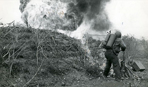 Than German flamethrowers shocked Russian soldiers in the First world