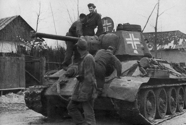 What captured Soviet tanks, the most prized by the Germans