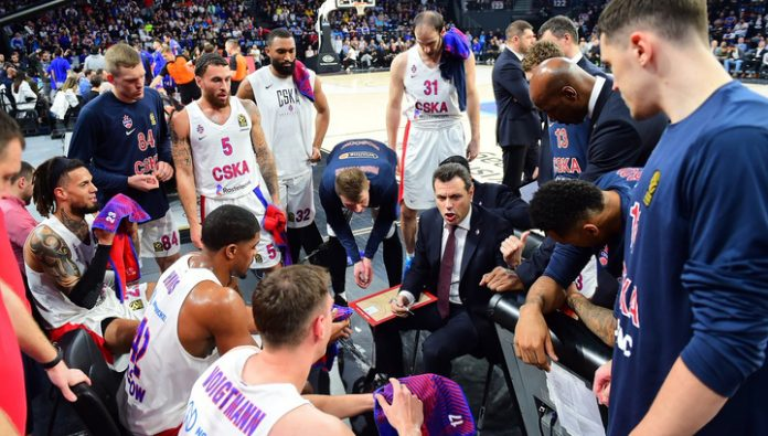 Coach Itoudis of CSKA in the match with Khimki showed good team basketball