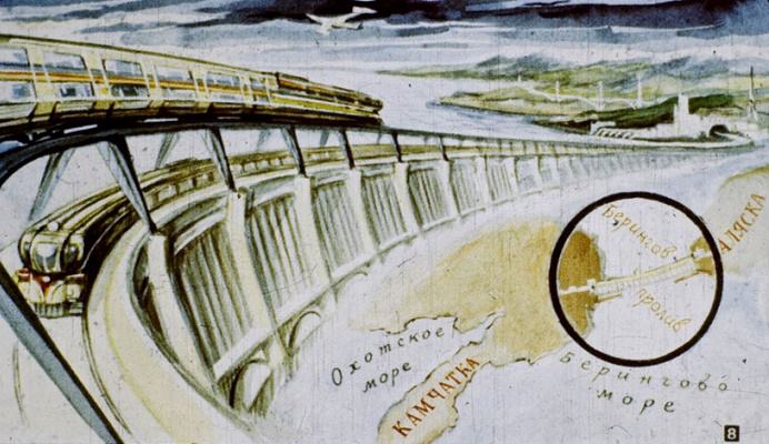 Dam across the Bering Strait, the most ambitious project of the Soviet Union