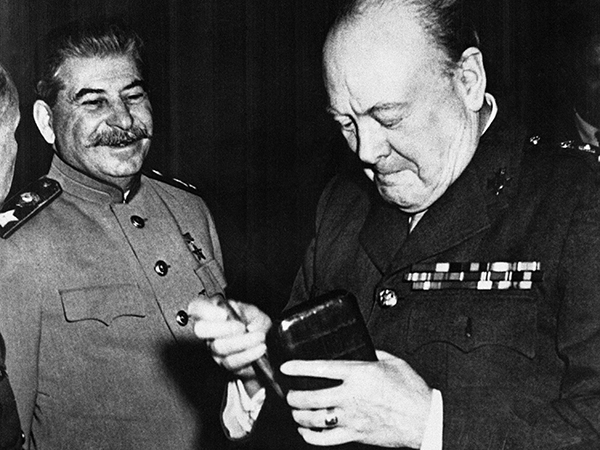 How to actually Churchill belonged to the USSR