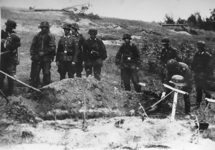In some cases, the Germans finished off their own wounded soldiers