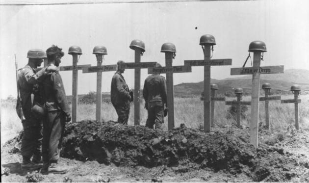 In the USSR the soldiers were buried Hitler
