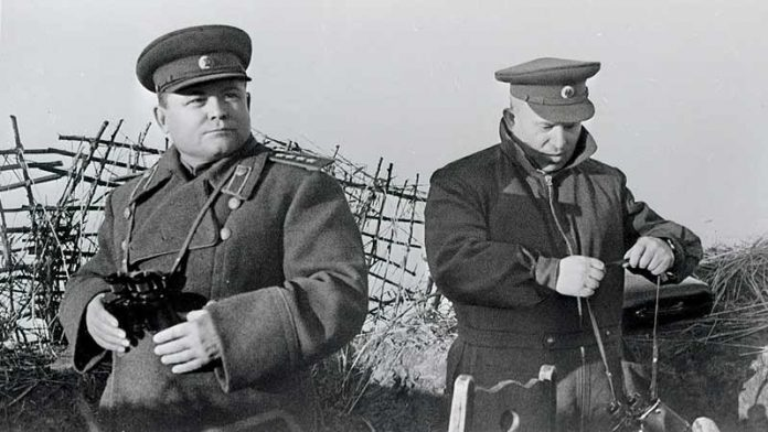 Nikolai Vatutin and other Soviet commanders who died at the front