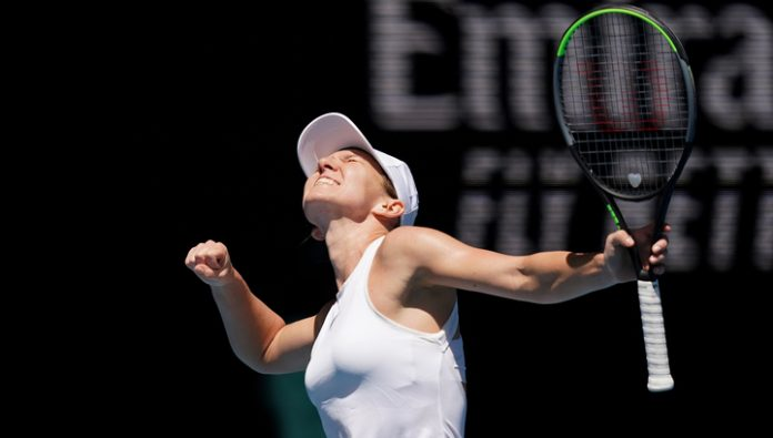Simona Halep became the first semi-finalist of the Open championship of Australia