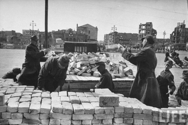 The damage caused by the war, was reimbursed of the Soviet Union reparations from Germany