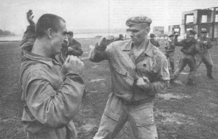 What fighting techniques were taught in KGB