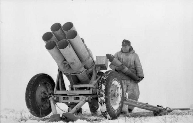 What kind of rocket artillery made the Wehrmacht on the Eastern front