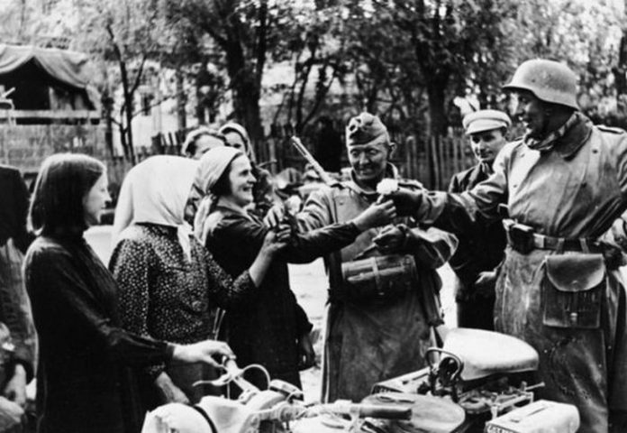 What Russian words were supposed to know the soldiers of the Wehrmacht