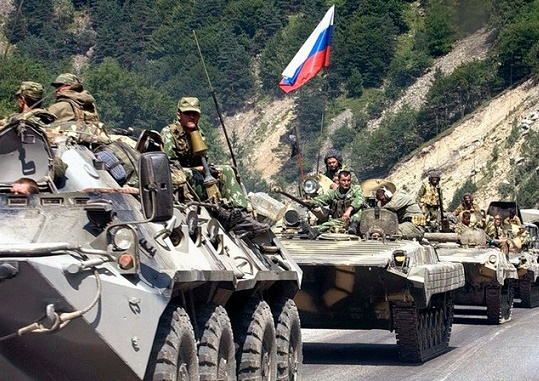 What secrets the US invaded Russia during the war with Georgia in 2008