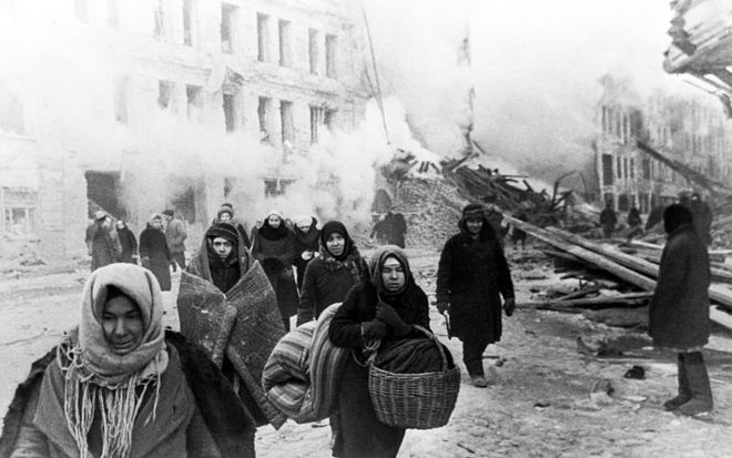What the Germans were doing with the refugees from the siege of Leningrad