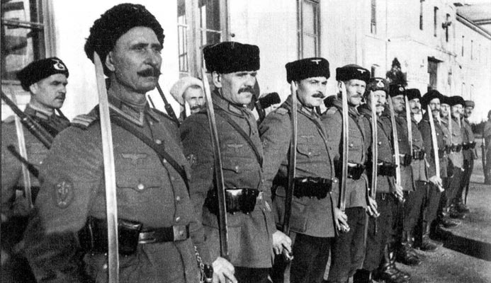 What the troops of Russian traitors fought against the red Army