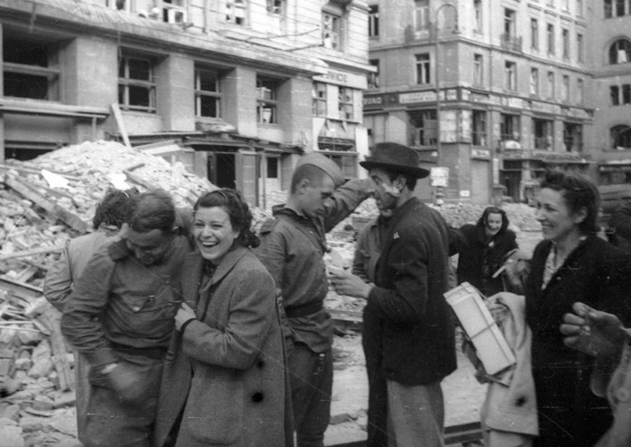 Where in Europe were not welcome the liberation by the red Army from the Germans