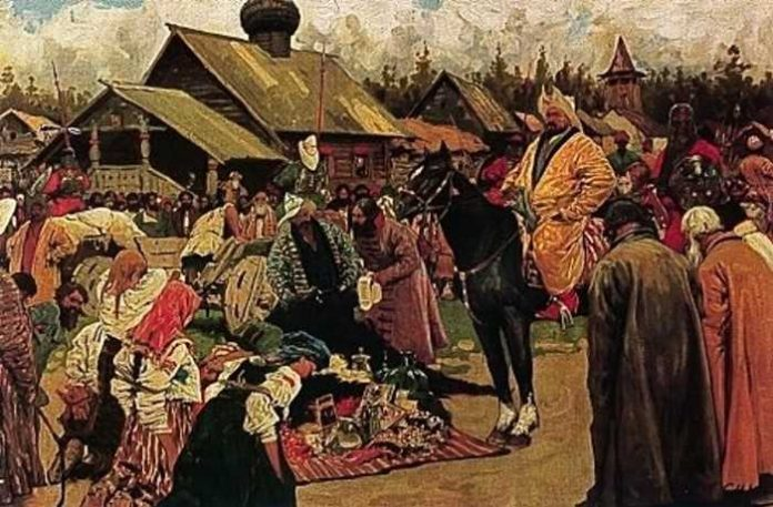 Who in Russia did not pay tribute to the Golden Horde
