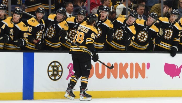 A hat-trick Pastrnak brought