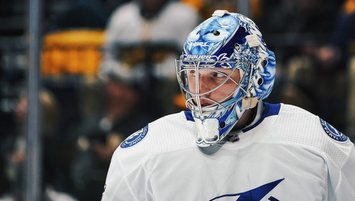 Andrey Vasilevskiy became the star of the last game of the week NHL