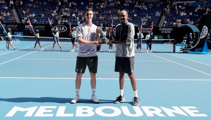 Australian Open. Frames and Salisbury won the competition in doubles