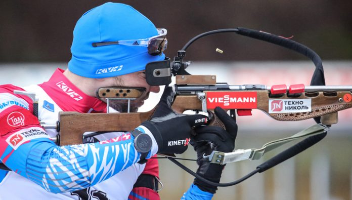 Biathlon. Alexander Loginov was the first of the Russians will