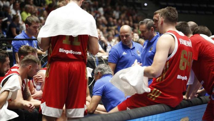 Declared the Russian team at the qualifying match of the Eurobasket with Italy
