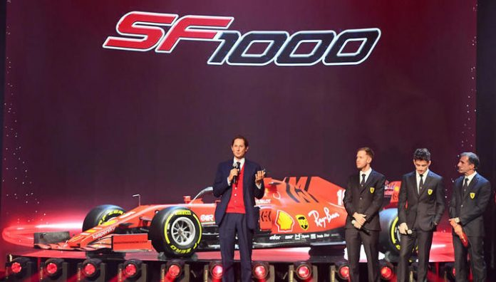 Ferrari presented the car SF1000 for the upcoming season of Formula 1