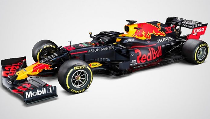 Formula 1. The public presented the new car of Red Bull team