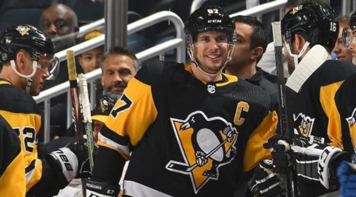 """Forward """"Pittsburgh"""" Crosby named first star of day in NHL"""