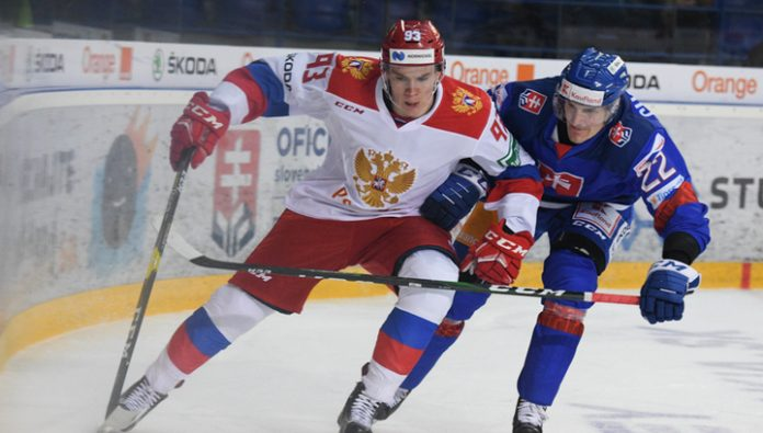 Hockey Olympic team of Russia lost to Slovakia in a friendly tournament