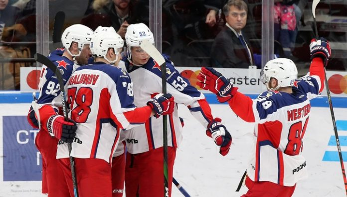 Hockey players of CSKA scored four unanswered goals in the gate
