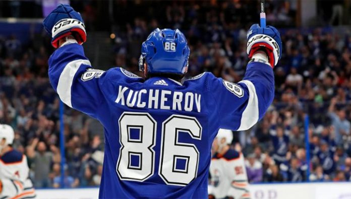 Kucherov scored twice,