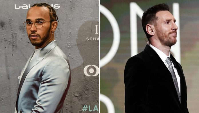 Lionel Messi and Lewis Hamilton received the award Laureus World Sports