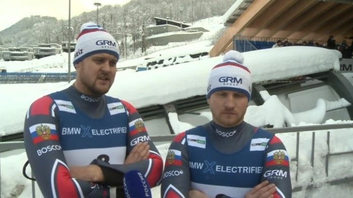 Luge Alexander Denisov and Vladislav Antonov are the world Champions in the sprint twos