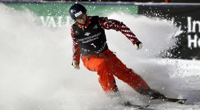 Maxim Burov took the gold in acrobatics at the world Cup stage on freestyle