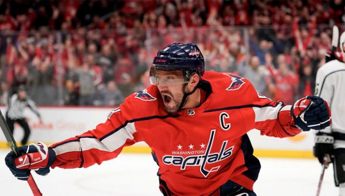Ovechkin came in first place for goals in the current NHL season