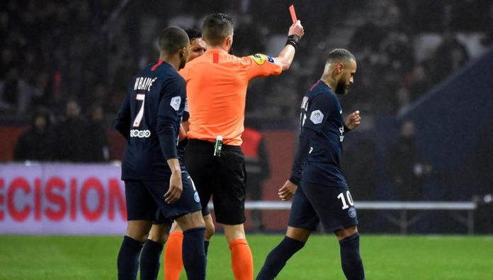 PSG beat Bordeaux, Neymar got red card in the 92nd minute