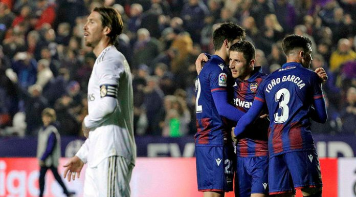 Real Madrid lost to Levante and lost leadership