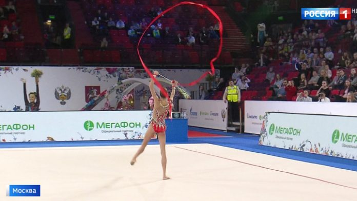 Russian gymnasts - the winners of the Grand Prix in Moscow