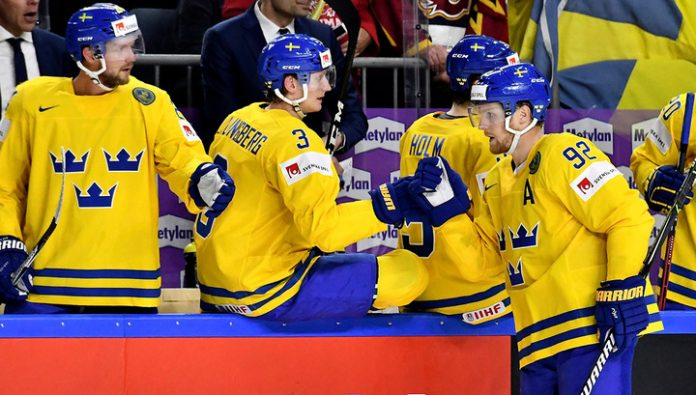 Swedish hockey players defeated the Czechs