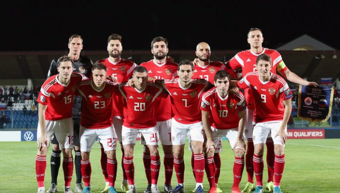 Team Russia has retained the 38th place in the updated FIFA ranking