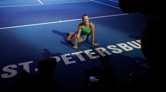 Tennis player of Bertens the second time became the winner of tournament in St. Petersburg