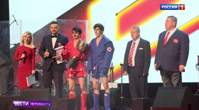 The first championship of League of fighting Sambo: the bouts were watched by the President