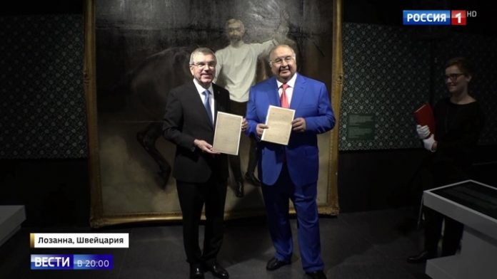 The return of Olympic history: the Alisher Usmanov has transferred to the IOC Manifesto of Baron de Coubertin