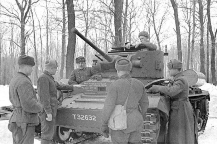What battles the Red Army fought on English tanks