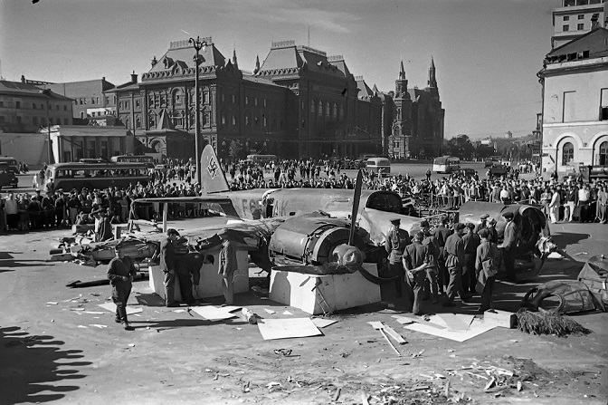 What damage was caused by Moscow, the German air raids