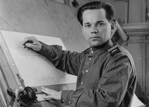 What was invented by Mikhail Kalashnikov in addition to the machine