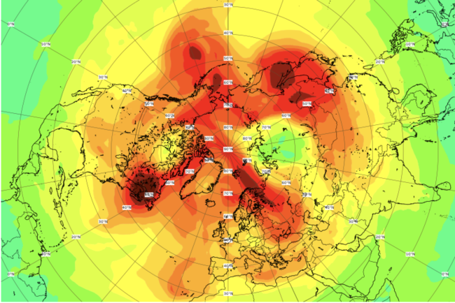 Largest ever ozone hole over the North Pole comes to a close
