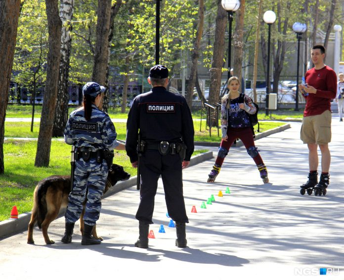 In Novosibirsk parks were the police