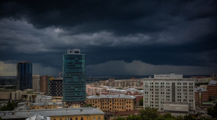 MOE released for Novosibirsk emergency warning of strong winds of up to 25 m/s and storm