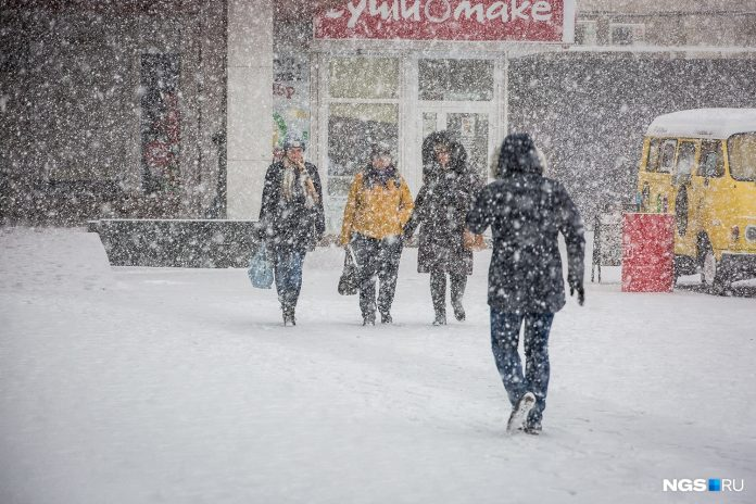 Novosibirsk will cover wind and sleet