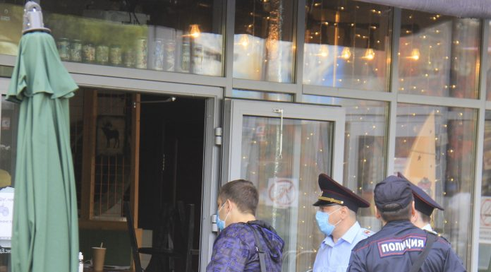 Police raided the yard on Lenin, where there was a street party